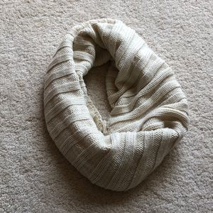 Cream Knitted Scarf